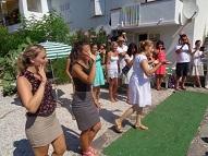 the same Children's performance with their teachers : Sanaa, Angie & Marine