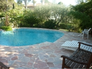 The swimming pool in the garden with unlimited access whenever you feel like