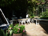 The outside terrace where you will be invited for a typical French summer dinner wit around 10-12 guests